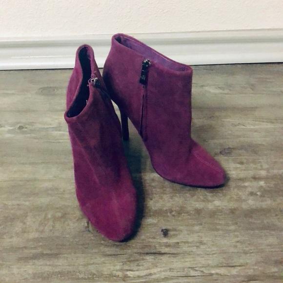 Aldo Shoes - Aldo suede fuchsia booties